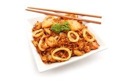 Stir-fried noodles Stock Images