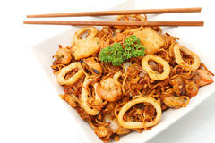 Stir-fried noodles Stock Photos