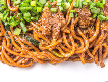 Stir Fried Noodles Close Up View III Stock Photos