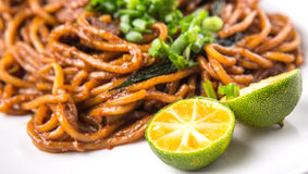 Stir Fried Noodles Close Up View IV Stock Photos