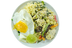 Stir fried noodles and egg Stock Image