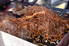 Stir fried noodles Royalty Free Stock Photo