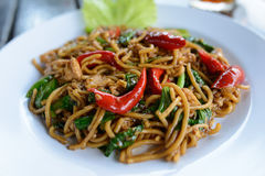 Stir fried noodles Royalty Free Stock Photography