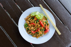 Stir fried noodles Stock Images