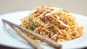 Stir fried oriental noodle with vegetables Stock Image