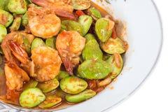 Stir fried parkia Stock Image