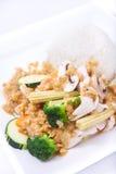Stir fried peanut sauce with jasmine rice. Stock Photography
