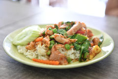 Stir fried pork and curry paste, Thai food. Stock Image