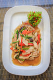 STIR FRIED PORK WITH GINGER Royalty Free Stock Photography