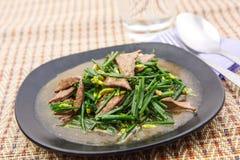 Stir fried pork liver with vegetable Royalty Free Stock Images