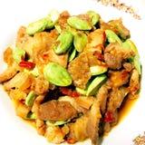 Stir fried pork Stock Image