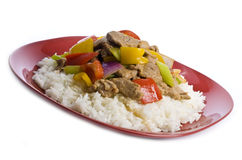 Stir Fried Pork and Vegetables Stock Photo
