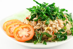 Stir Fried Pork Whit Basil Stock Images