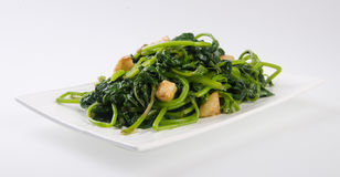 Stir-fried Potatoes Leaves asian food Royalty Free Stock Photo