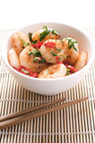 Stir-fried Prawns in a bowl Royalty Free Stock Photos