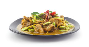 Stir fried riang parkia seed with chicken Royalty Free Stock Photos