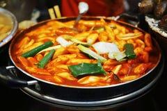 Stir-fried Rice Cake Tteok-bokki Stock Photo