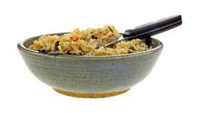 Stir Fried Rice Ceramic Bowl Fork Stock Photography