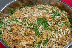 Stir fried rice noodle Thai eastern style royalty free stock photos