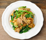 Stir Fried Rice Noodle with pork Royalty Free Stock Images