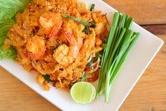 Stir fried rice noodle Stock Photos