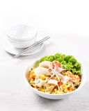 Stir Fried Rice Noodle with seafood Royalty Free Stock Image