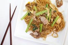 Stir Fried Rice Noodles Royalty Free Stock Image