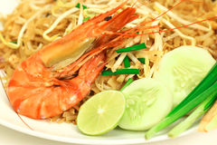 Stir-fried rice noodles (Pad Thai) Royalty Free Stock Photography