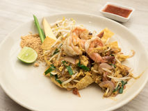 Stir-fried rice noodles (Pad Thai) Royalty Free Stock Images
