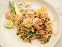 Stir-fried rice noodles (Pad Thai) Stock Images