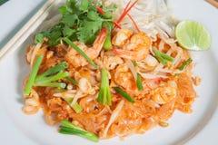 Stir-fried rice noodles (Pad Thai) Stock Images