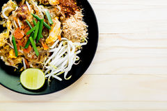 Stir-fried rice noodles (Pad Thai) Stock Image