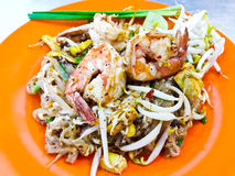 Stir-fried rice noodles (Pad Thai). Royalty Free Stock Images