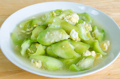 Stir fried Ridge gourd with egg Stock Images