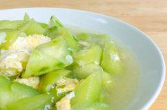 Stir fried Ridge gourd with egg Stock Photos
