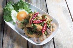 Stir Fried Sea Bass with Chilli. Popular Thai Cuisine royalty free stock photo