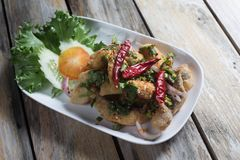 Stir Fried Sea Bass with Chilli. Popular Thai Cuisine royalty free stock photos