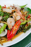 Stir fried seafood Royalty Free Stock Photos