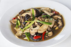 Stir fried shiitake mushroom Royalty Free Stock Image