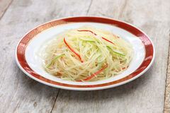Stir fried shredded potatoes, chinese cuisine Stock Photos