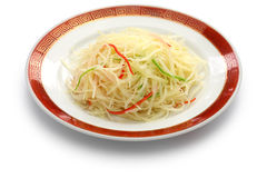 Stir fried shredded potatoes, chinese cuisine Royalty Free Stock Images