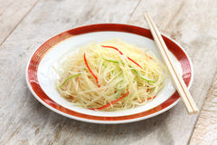 Stir fried shredded potatoes, chinese cuisine Royalty Free Stock Image