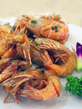 Stir-fried shrimp Stock Photo