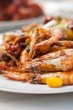 Stir fried Shrimp with cashew nuts, monkey apple, Ginko and Taro Royalty Free Stock Image