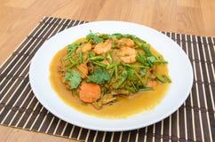 Stir-Fried Shrimp with Curry Powder Stock Photos