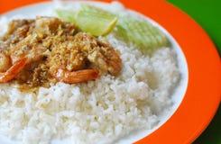 Stir-fried Shrimp with Garlic Stock Images