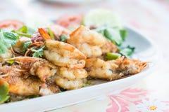 Stir-fried shrimp with garlic and pepper Stock Image