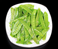 Stir fried snow peas Stock Photography
