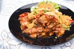 Stir-fried Soft-shelled Crab in Curry Powder. A Stir-fried Soft-shelled Crab in Curry Powder Stock Image
