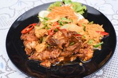 Stir-fried Soft-shelled Crab in Curry Powder. A Stir-fried Soft-shelled Crab in Curry Powder Stock Photography